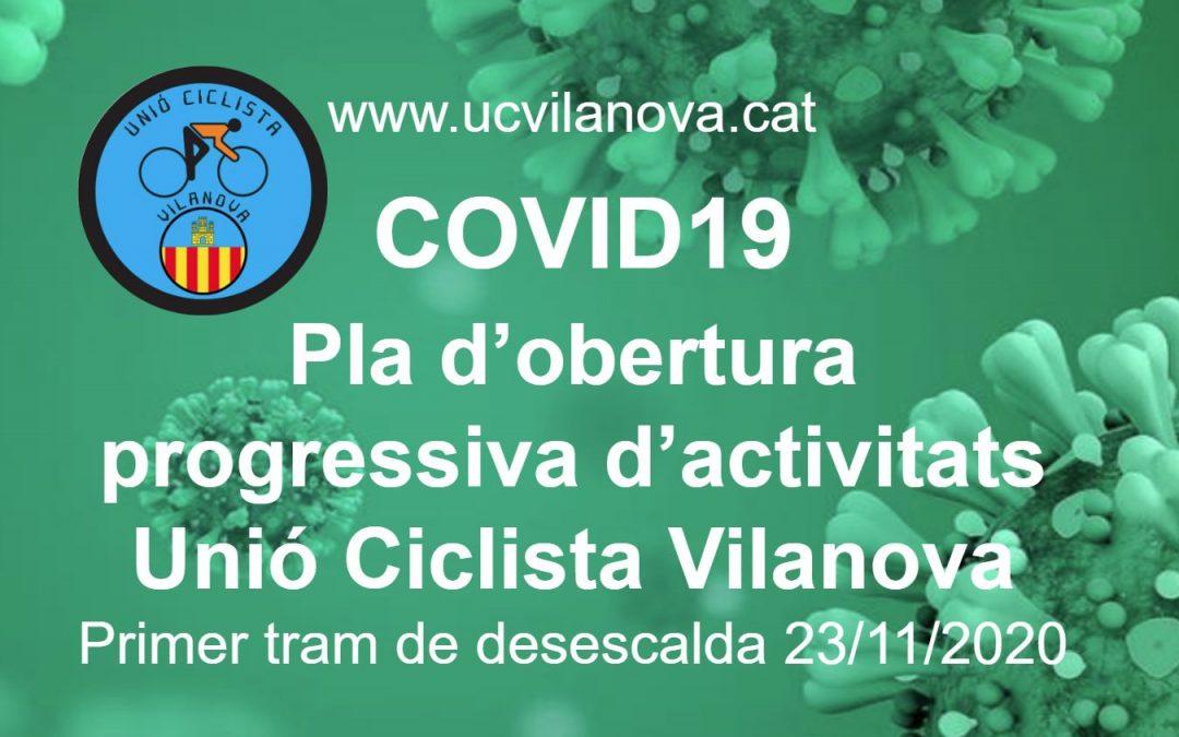 COVID19 Primer Tram del pla d'obertura progressiva d'activitats 23/11/2020