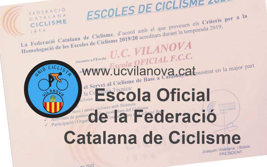Homologació UCV: Escola Oficial de Ciclisme FCC