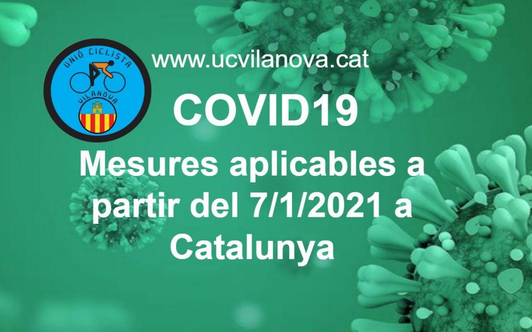 Mesures COVID19 a partir 7 Gener 2021